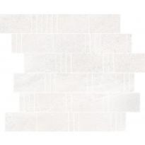 Mosaiikkilaatta Pukkila Landstone White Pave, himmeä, sileä, 298x298mm