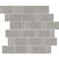 Mosaiikkilaatta Pukkila Landstone Grey Pave, himmeä, sileä, 298x298mm