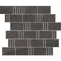 Mosaiikkilaatta Pukkila Landstone Anthracite Pave, himmeä, sileä, 298x298mm