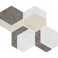 Mosaiikkilaatta Pukkila Archiresin Esagona Mix Caldo, puolikiiltävä, sileä, 265x310mm