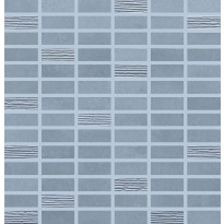 Mosaiikkilaatta Pukkila Biocrete mosaiikki Sky, himmeä, sileä, 48x20mm
