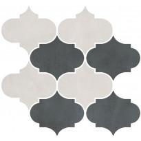 Mosaiikkilaatta Pukkila Skylab Mix White/Dark Grey, himmeä, sileä, 408x415mm