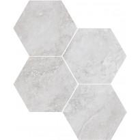 Mosaiikkilaatta Pukkila Italian Icon White Esagoni, 6-kulmainen, himmeä, sileä, 111x98mm