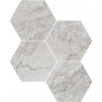 Mosaiikkilaatta Pukkila Italian Icon Greige Esagoni, 6-kulmainen, himmeä, sileä, 111x98mm