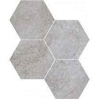 Mosaiikkilaatta Pukkila Italian Icon Grey Esagoni, 6-kulmainen, himmeä, sileä, 111x98mm