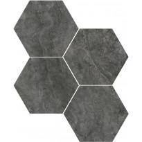 Mosaiikkilaatta Pukkila Italian Icon Black Esagoni, 6-kulmainen, himmeä, sileä, 111x98mm