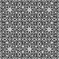 Kuviolaatta Pukkila Antique 2.0 Reggae black/white, himmeä, sileä, 200x200mm