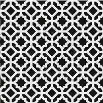 Kuviolaatta Pukkila Medley Rock black/white, himmeä, sileä, 200x200mm