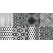 Kuviolaatta Pukkila Medley Sound mix black/white, himmeä, sileä, 200x200mm
