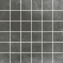 Mosaiikkilaatta Pukkila Europe Black, himmeä, sileä, 50x50mm