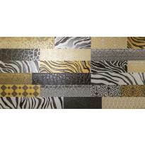 Kuviolaatta Pukkila Metal Soul Brick wall, puolikiiltävä, sileä, 1198x598mm