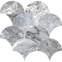 Mosaiikkilaatta Pukkila Rock Symphony Blues Siniharmaa, kiiltävä, sileä, 290x280mm