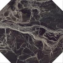 Lattialaatta Pukkila Rock Symphony Power Ruskea 8-kulmainen, kiiltävä, sileä, 594x594mm