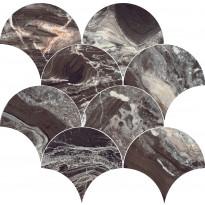Mosaiikkilaatta Pukkila Rock Symphony Power Ruskea, kiiltävä, sileä, 290x280mm