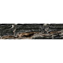 Lattialaatta Pukkila Rock Symphony Glam Musta, kiiltävä, sileä, 594x147mm
