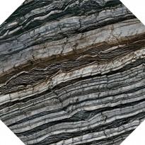 Lattialaatta Pukkila Rock Symphony Glam Musta 8-kulmainen, kiiltävä, sileä, 594x594mm