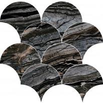 Mosaiikkilaatta Pukkila Rock Symphony Glam Musta, kiiltävä, sileä, 290x280mm