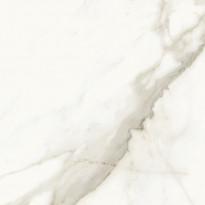 Lattialaatta Pukkila Marble Boutique Calacatta White, kiiltävä, sileä, 594x594mm