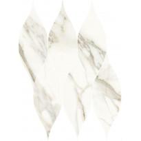 Mosaiikkilaatta Pukkila Marble Boutique Calacatta White Goccia, kiiltävä, sileä, 405x326mm
