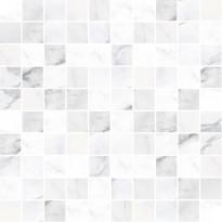 Mosaiikkilaatta Pukkila Marble Boutique Statuario White, kiiltävä, sileä, 298x298mm