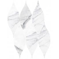 Mosaiikkilaatta Pukkila Marble Boutique Statuario White Goccia, kiiltävä, sileä, 405x326mm