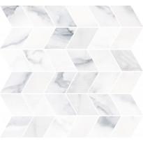 Mosaiikkilaatta Pukkila Marble Boutique Statuario White Chevron, kiiltävä, sileä, 298x298mm