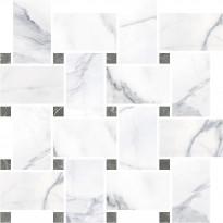 Mosaiikkilaatta Pukkila Marble Boutique Statuario White Chesterfield, kiiltävä, sileä, 317x305mm