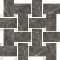 Mosaiikkilaatta Pukkila Marble Boutique Amani Chesterfield, kiiltävä, sileä, 317x305mm