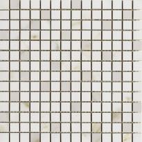 Mosaiikkilaatta Pukkila Marble Boutique Wall mosaiikki Calcatta white, kiiltävä, sileä, 20x19.7mm