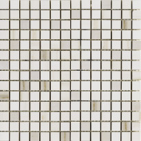 Mosaiikkilaatta Pukkila Marble Boutique Wall mosaiikki Lasa white, kiiltävä, sileä, 20x19.7mm