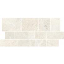 Mosaiikkilaatta Pukkila Kalkaria Alba Bianco Muretto, himmeä, sileä, 598x298mm