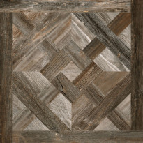 Lattialaatta Pukkila Artwood Multibrown inlay, himmeä, sileä, 598x598mm