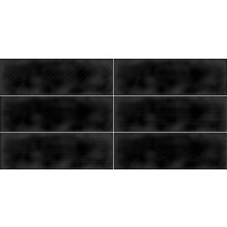 Kuviolaatta Pukkila Soho Black, kiiltävä, struktuuri, 297x97mm