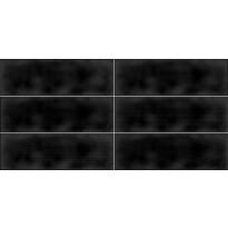 Kuviolaatta Pukkila Soho Black, kiiltävä, struktuuri, 297x97mm, myyntierä 12,6m², Verkkokaupan poistotuote
