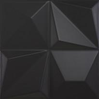 Kuviolaatta Pukkila Shapes Multishapes Black, himmeä, sileä, 250x250mm