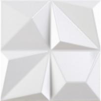 Kuviolaatta Pukkila Shapes Multishapes White, kiiltävä, sileä, 250x250mm