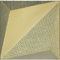 Kuviolaatta Pukkila Shapes Origami Gold, himmeä, sileä, 250x250mm