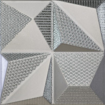 Kuviolaatta Pukkila Shapes Multishapes Silver, himmeä, sileä, 250x250mm