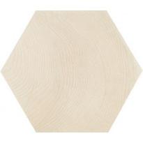 Lattialaatta Pukkila Hexawood White, himmeä, struktuuri, 200x175mm