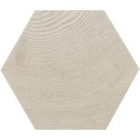 Lattialaatta Pukkila Hexawood Grey, himmeä, struktuuri, 200x175mm
