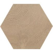 Lattialaatta Pukkila Hexawood Tan, himmeä, struktuuri, 200x175mm
