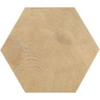 Lattialaatta Pukkila Hexawood Natural, himmeä, struktuuri, 200x175mm