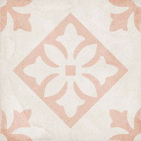 Kuviolaatta Pukkila Art Nouveau Padua Pink, himmeä, sileä, 200x200mm