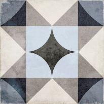 Kuviolaatta Pukkila Art Nouveau Palais Blue, himmeä, sileä, 200x200mm