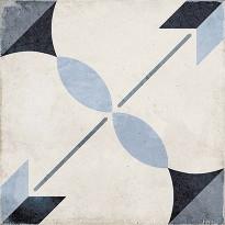 Kuviolaatta Pukkila Art Nouveau Arcade Blue, himmeä, sileä, 200x200mm