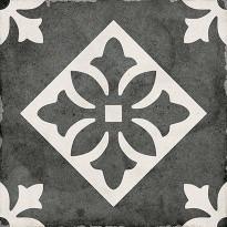 Kuviolaatta Pukkila Art Nouveau Padua Black, himmeä, sileä, 200x200mm