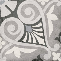 Kuviolaatta Pukkila Art Nouveau Opera Grey, himmeä, sileä, 200x200mm