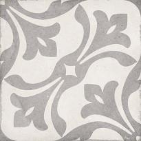 Kuviolaatta Pukkila Art Nouveau La Rambla Grey, himmeä, sileä, 200x200mm, myyntierä 13m², Verkkokaupan poistotuote