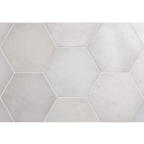 Lattialaatta Pukkila Hexagon Heritage Snow, himmeä, sileä, 200x175mm