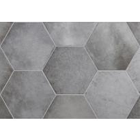 Lattialaatta Pukkila Hexagon Heritage Shadow, himmeä, sileä, 200x175mm